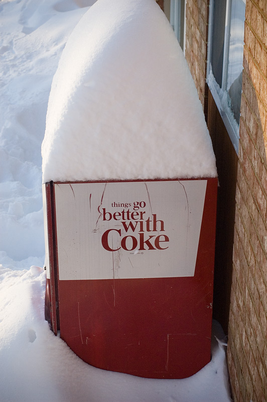 coke machine snow